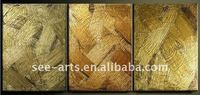 latest make silver foil metallic texture group oil painting