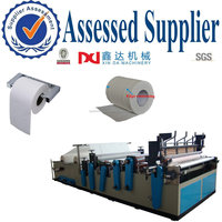 Automatic edge trimming roll tissue toilet paper processing Machine price