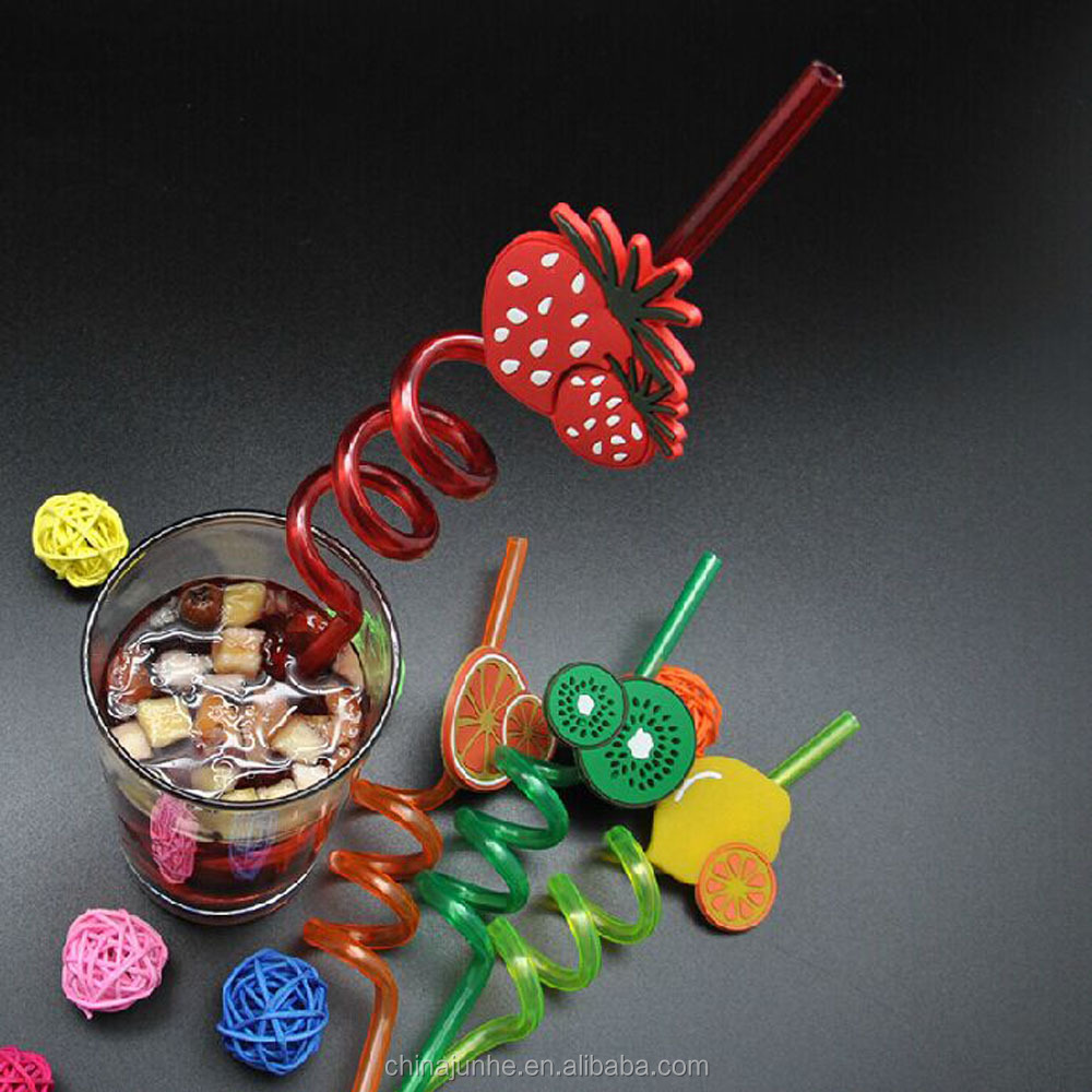 2015 hot selling plastic Drink Straw Twisted Funny Straws For Drinking