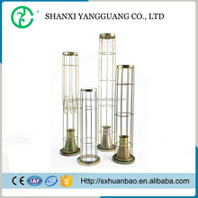 3.5mm wire round steel bag filter cage with ventury