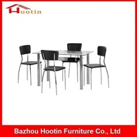 Home Furniture Elegant Double Room Furniture High Quality Cheap Price Hot Sale Used Modern 4 Chairs Double Layer Dining Table