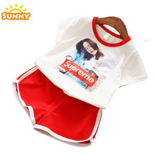 wholesale baby girls jogging clothes applique kids clothing sets dropshipping