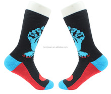 Logo Printing Cushion Mens Sport Custom Print Socks ,Custom Crew Socks