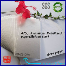 Hot-sale 475gsm Vacuum Metallized Paper For Printing