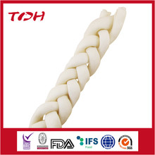 pet food ingredients for UK market rawhide bone knotted inserted with beef meat