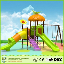 Bairun High Quality School Plastic Playing Slide And Swings Outdoor Playhouse For Kids