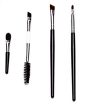 Angle Alis Brush Mascara, Sisi ganda Maskara Eyeliner Datar Sikat, Duo End Makeup Brush