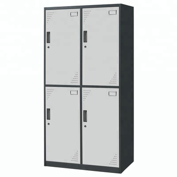 2017 steel storage cabinet wardrobe cloth waterproof 4 door metal cabinet