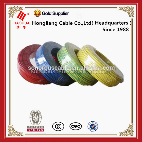 Hot sell 1.5mm 2.5mm 4mm 6mm 10mm 16mm electrical wire 450/750V single core