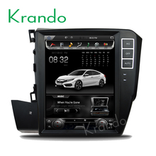 "Krando Android 6.0 10.4"" Vertical screen car dvd audio player for Honda Civic Left Drivingg 2012+ multimedia system KD-HC227"