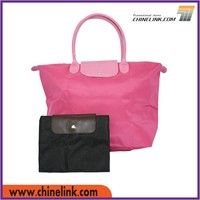 Polyester material foldable shopping bag with 12 hours reply