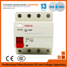 Home type Electronic Magnetic 2P 3P+n phase elcb 50A 30mA 100mA 300mA Residual Current Circuit Breaker Rccb