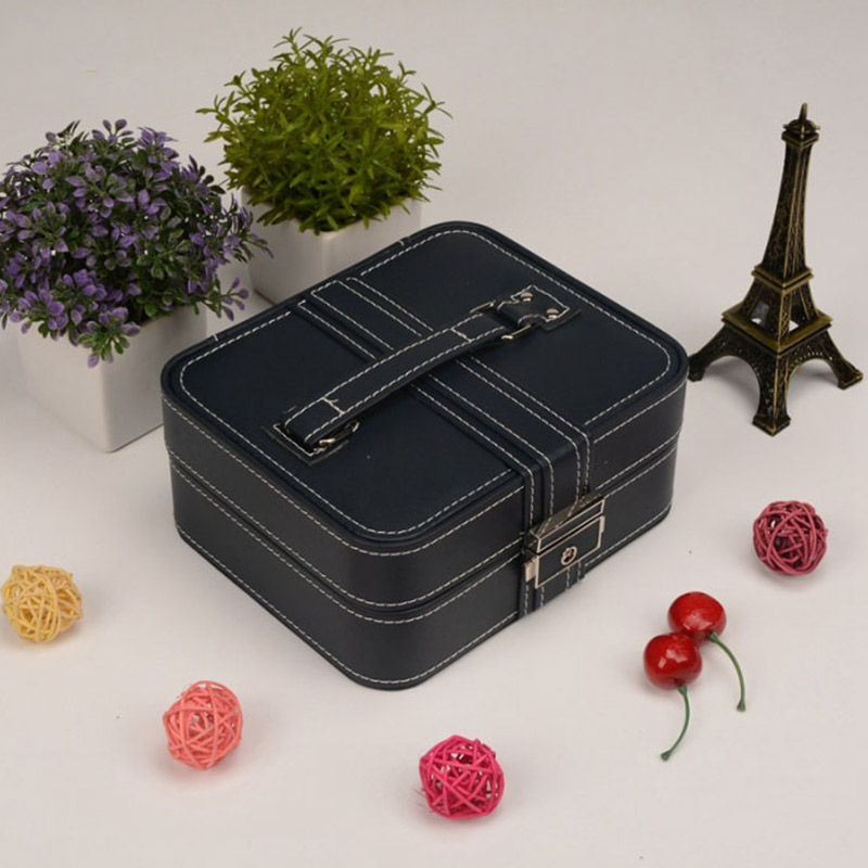 XUQY Brand new creative PU jewelry box Korean sweet portable jewelry storage box MT117062