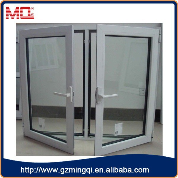 French Casement Window Pvc Outward Opening Glass Window