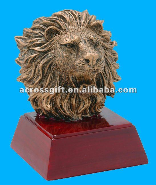 Bronze decorative resin lion statue