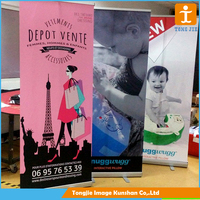 Outdoor advertising roll up banner standee, pull up display