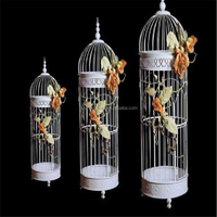 Bird house with metal for garden decoration in home decor metal craft ,White Birdcage Hanging Birdcages Decorative Bird Cages Fo