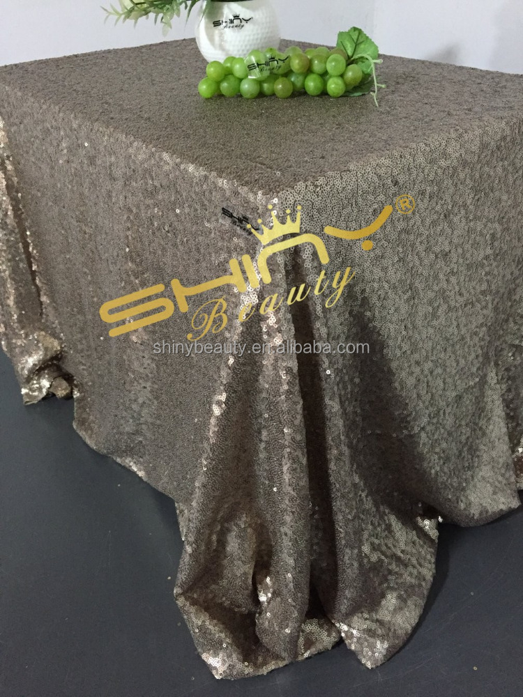 Light Brown Sequin Tablecloth,Customed Wedding Embroidery Sequin Tablecloths/Table Cloths/Overlay/Covers