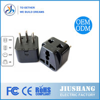 EU 3 Pin Plug Male to Female India Pakistan US to India Electric Adapter