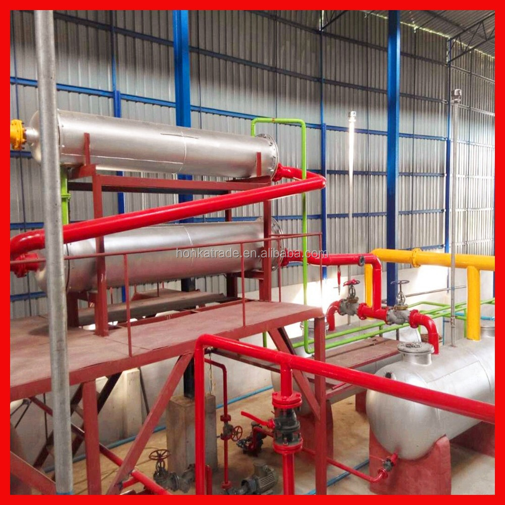 professional Used Waste Plastic Tire Refining to Fuel Oil with efficiency petrol recycling