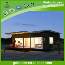 fully equipped modular prefab modern light steel houses with well decoration