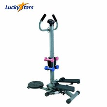 STP6000 Fitness stepper with handle bar and dumbbell