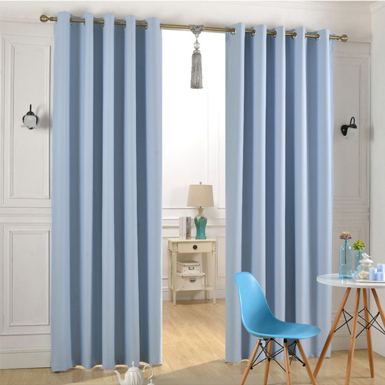 Polyester blue european style hotel window curtain