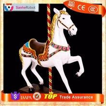 Amusement Park Carrousel Horse Seat Simulator horse riding machine for sale