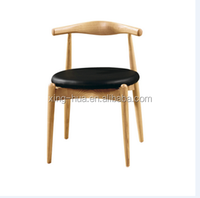American style design ox horn chair with round seat for coffee shop