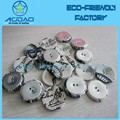 Double Layer eyelets fabric Covered Button blank