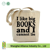 12oz Cotton Eco Bags Natural Women Shoulder Blank Canvas Tote Bag Shopping Lady
