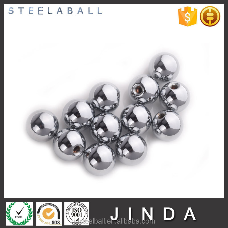 Chrome plated steel ball drilled sphere solid ball with hole