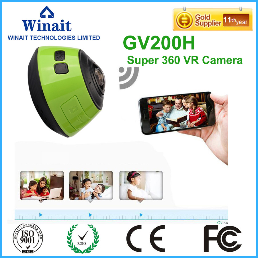 WiFi 360 degree Driving Action Large Lens Cam DV HD 3D VR Panoramic Camera Multi Mode 360 Action Camera