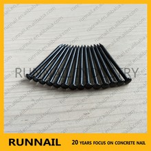 High quality black concrete nails flat round head diamond point