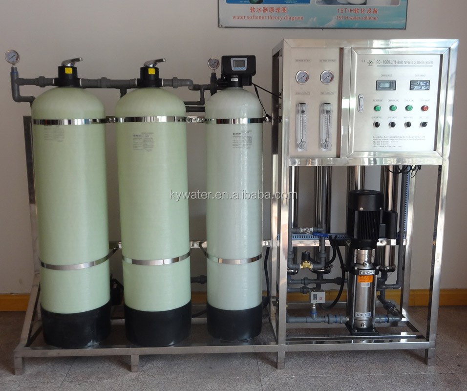 Factory Direct Sales CE/ISO Approved KYRO-1000 water softener system with RUNXIN,Fleck Auto Control Valve