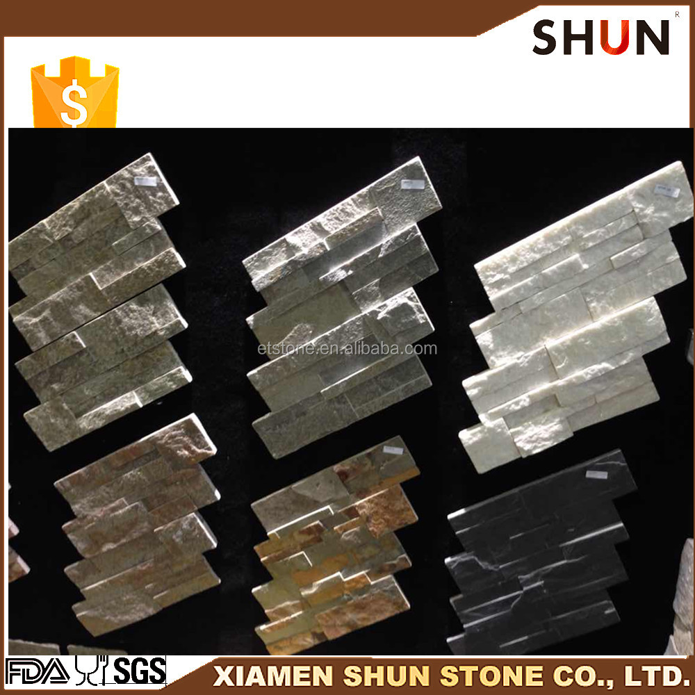 Hot selling slate culture stone Natural rusty wall cladding slate landscaping stones for wall cladding