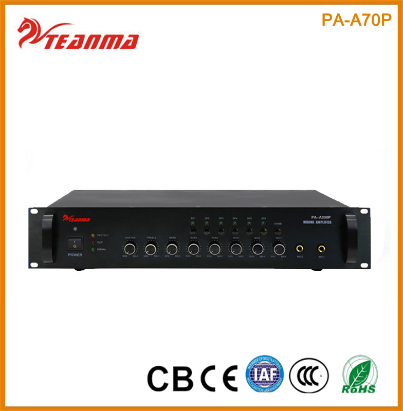 Discount Chinese manufacture 6 channels 70W professional mixer Audio Power amplifer