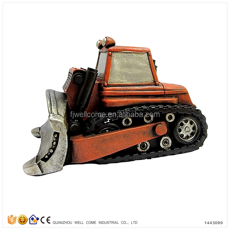 Resin Coin Banks for Adults Models of Caterpillar Bulldozers
