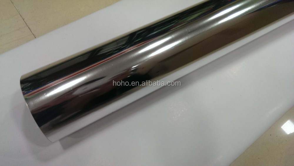 1.52*20m Good Stretchable Mirror Chrome Car Wrapping 3m Red Chrome Vinyl Film