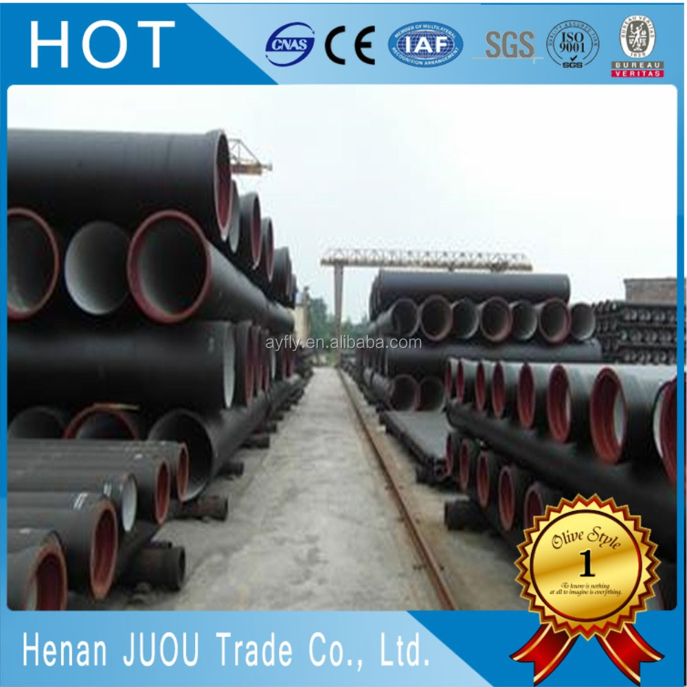 seamless reducing galvanized coated casting ductile iron pipe