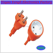 Hign quality euro 2 pin plug with socket