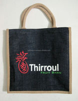 Jute black color bag with print in red color by MLG Internatinal