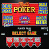 Poker Game 5 in 1 Poker Slot Machine Game Board