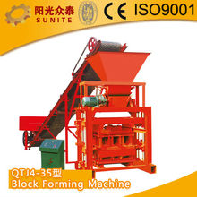 SUNITE QTJ4-35 Solid block Forming Machine/cement hollow block making machines price/cement block&brick making machine