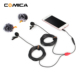 COMICA Super-Shield Dual-Head Lapel Mic Lavalier Microphone Universal for Camera Camcorder Smartphone