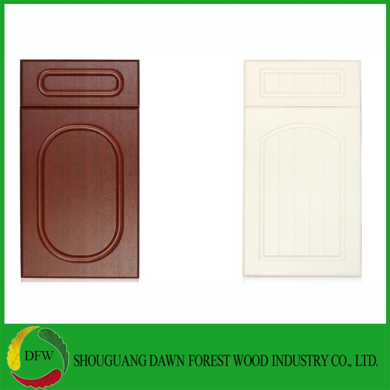Pvc Film MDF Cabinet Doors For Kitchen