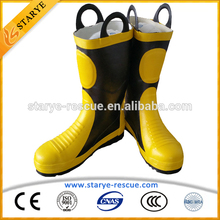 Firefighting Using Acid Resistance Firefighting Protection Shoes