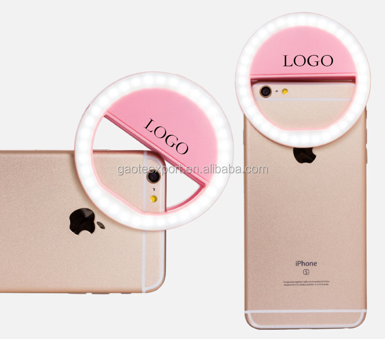 Chargeable 36 LED Clip-on Selfie Ring Light For Smart Phone with Custom Logo