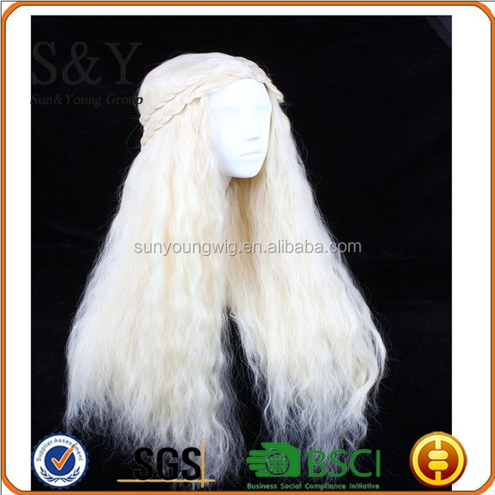 BSCI A Daneryse Targaryen beleza cabelos longos peruca cosplay