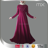Adults Age Group And Middle East Ethnic Region Indian kaftan Abaya And Magenta Long Dress
